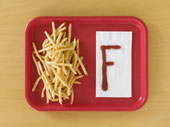 french fries on a tray